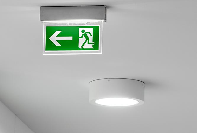 Kontrola nouzového osvětlení